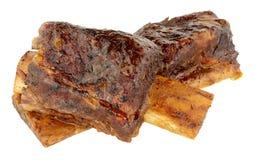 减慢煮熟的牛肉牛排骨 库存照片