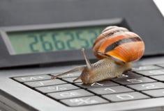 减慢财务 图库摄影