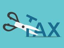 减税的剪刀 免版税库存图片
