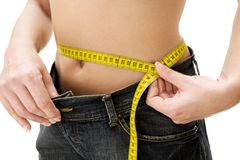 减肥成功 免版税库存照片