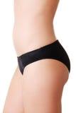 减肥被晒黑的妇女的身体。 库存图片