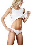 减肥被晒黑的妇女的形象 库存图片