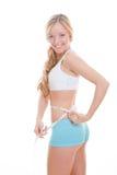 减肥适合的妇女 免版税库存图片