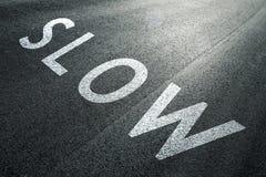 减速推进速度标志 免版税图库摄影