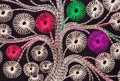 减速火箭刺绣花卉手工制造的模式 免版税库存图片