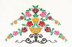 减速火箭刺绣花卉手工制造的模式 库存图片