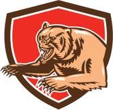 减速火箭北美灰熊恼怒的盾 向量例证