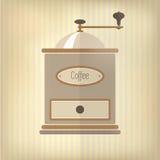 减速火箭咖啡的grider 库存照片