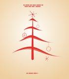 减速火箭圣诞节的例证 免版税库存图片