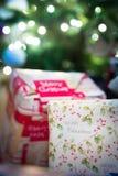 减速火箭圣诞节的礼品 免版税库存照片