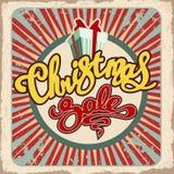 减速火箭圣诞节的销售 库存图片