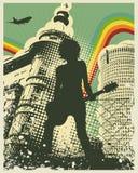 减速火箭城市的音乐 免版税库存照片