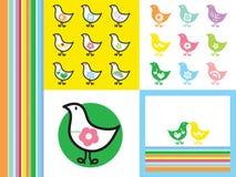 减速火箭小鸡的彩虹 免版税图库摄影