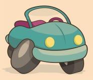 减速火箭汽车的动画片 免版税库存图片