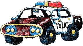 减速火箭汽车的警察 免版税库存照片