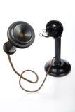 减速火箭烛台的电话 免版税库存照片