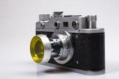 减速火箭照相机复制leica老的零件 库存照片