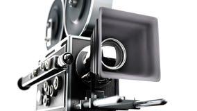 减速火箭照相机的电影 免版税图库摄影