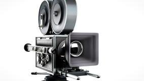 减速火箭照相机的电影 免版税库存图片