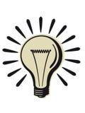 减速火箭电灯泡的光 免版税库存图片