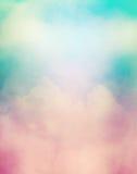 减速火箭的五颜六色的云彩 免版税库存图片