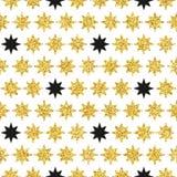 减速火箭的五颜六色的星无缝的样式 例证 图库摄影