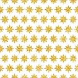 减速火箭的五颜六色的星无缝的样式 例证 免版税图库摄影