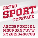 减速火箭的体育样式字体 免版税图库摄影