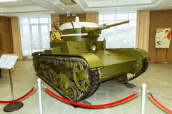 减速火箭的作战装甲车展览军史博物馆, Ekaterinburg,俄罗斯, 05 03 2016年 免版税库存照片