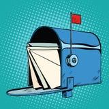 减速火箭的信箱现实图画 皇族释放例证