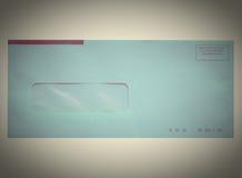 减速火箭的信件信封 免版税图库摄影