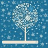 减速火箭的冬天结构树 图库摄影