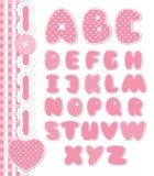 减速火箭的剪贴薄字体粉红色颜色 免版税库存图片