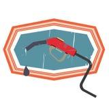 减速火箭的加油站 库存照片