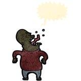 减速火箭的动画片叫喊的人 免版税库存照片
