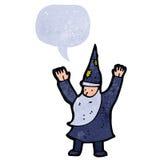 减速火箭的动画片巫术师铸件咒语 库存照片