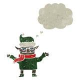 减速火箭的动画片圣诞节矮子 免版税库存图片