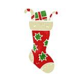减速火箭的动画片圣诞节长袜 库存图片