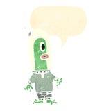 减速火箭的动画片外籍人 免版税库存图片