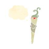减速火箭的动画片大麻香烟 免版税库存照片