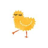 减速火箭的动画片小鸡 免版税图库摄影