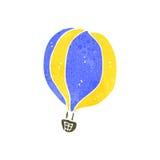 减速火箭的动画片热空气气球 免版税库存照片