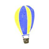 减速火箭的动画片热空气气球 免版税图库摄影