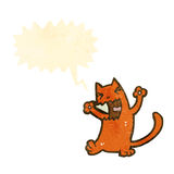 减速火箭的动画片猫 免版税图库摄影