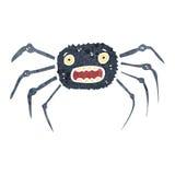 减速火箭的动画片蜘蛛 免版税图库摄影