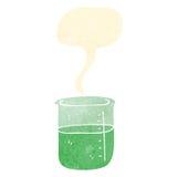 减速火箭的动画片起泡的化学制品 库存例证