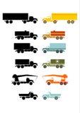 减速火箭的卡车集。 库存图片