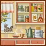 减速火箭的厨房 库存例证