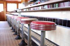 减速火箭的吃饭的客人 免版税图库摄影