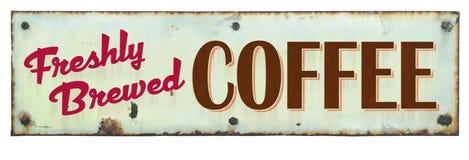 减速火箭的咖啡标志 免版税库存图片